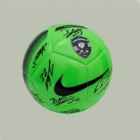 Football Ball with autographs