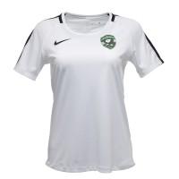 Бяла дамска тренировъчна тениска
