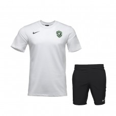 White Training Shirt and Free-time Shorts