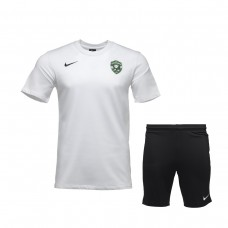 White Training Shirt and Training Shorts