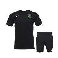 Черна тренировъчна тениска + шорти свободно време