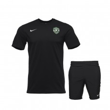 Black Training Shirt and Free-time Shorts