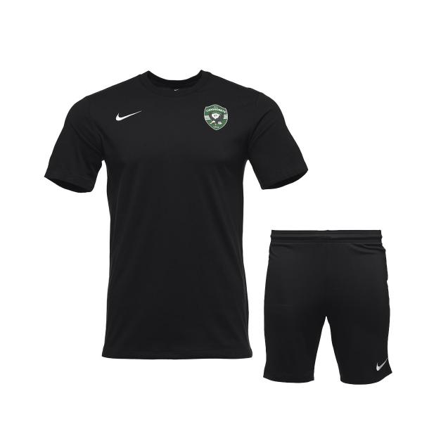 Black Training Shirt and Training Shorts